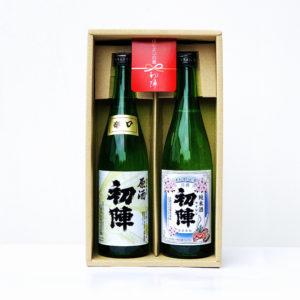 初陣・純米酒と辛口原酒のセット(赤飾り)