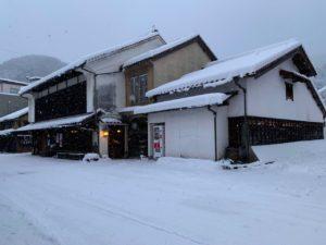 雪の中の初陣蔵